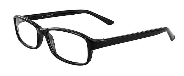 Prescription Glasses Model U41-BLACK-45