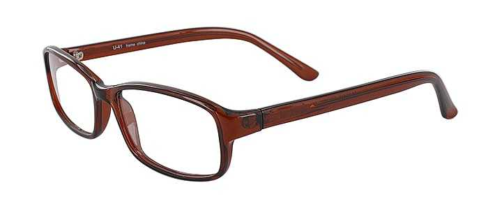Prescription Glasses Model U41-BROWN-45