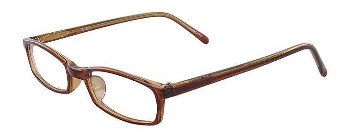 Prescription Glasses Model U42-BROWN-45