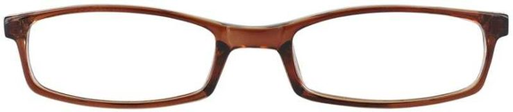 Prescription Glasses Model U42-BROWN-FRONT