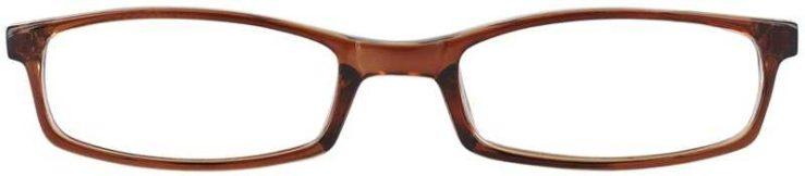 Prescription Glasses Model U42-BROWN-FRONT