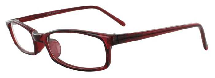 Prescription Glasses Model U42-BURGUNDY-45