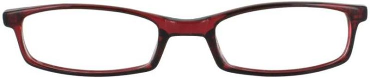 Prescription Glasses Model U42-BURGUNDY-FRONT