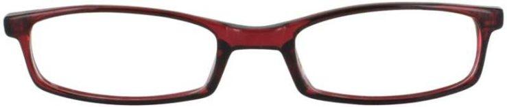 Prescription Glasses Model U42-BURGUNDY-FRONT