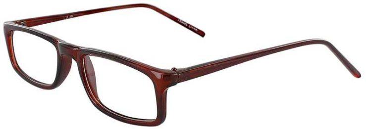 Prescription Glasses Model U46-BROWN-45