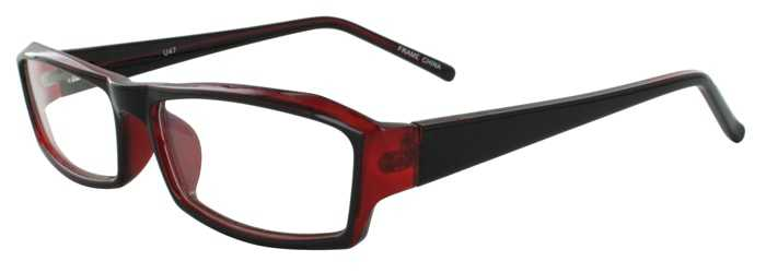 Prescription Glasses Model U47-BLACKWINE-45