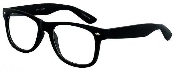Prescription Glasses Model UNIVERSITY-BLACK-45