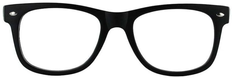 Prescription Glasses Model UNIVERSITY-BLACK-FRONT