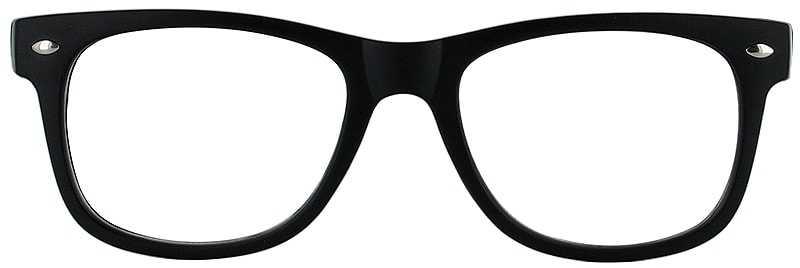 500b45e7145 ... Prescription Glasses Model UNIVERSITY-BLACK-FRONT ...