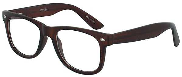 Prescription Glasses Model UNIVERSITY-BROWN-45