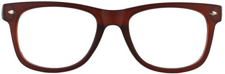 Prescription Glasses Model UNIVERSITY-BROWN-FRONT