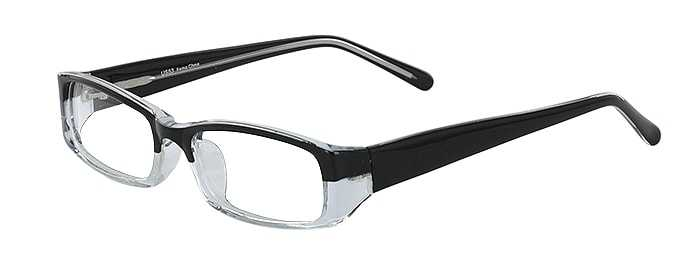 Prescription Glasses Model US53-BLACK-CRYSTAL-45