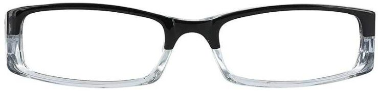 Prescription Glasses Model US53-BLACK-CRYSTAL-FRONT
