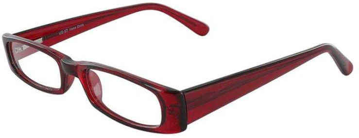 Prescription Glasses Model US57-BURGUNDY-45