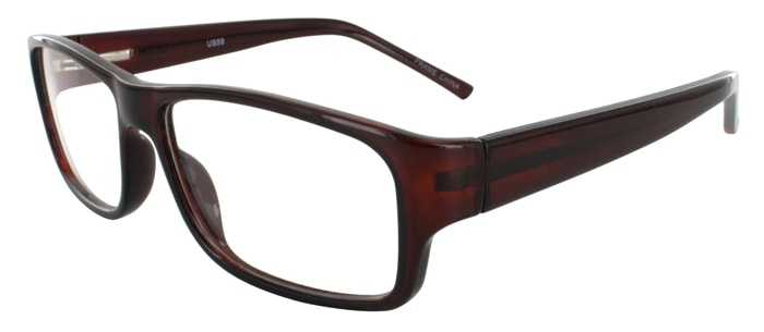 Prescription Glasses Model US59-BROWN-45