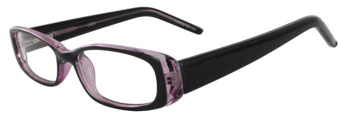 Prescription Glasses Model US63-BLACKPURPLE-45