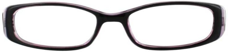 Prescription Glasses Model US63-BLACKPURPLE-FRONT