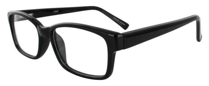 Prescription Glasses Model US69-BLACK-45