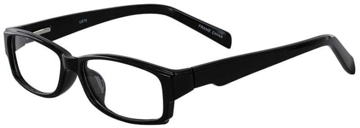 Prescription Glasses Model US70-BLACK-45
