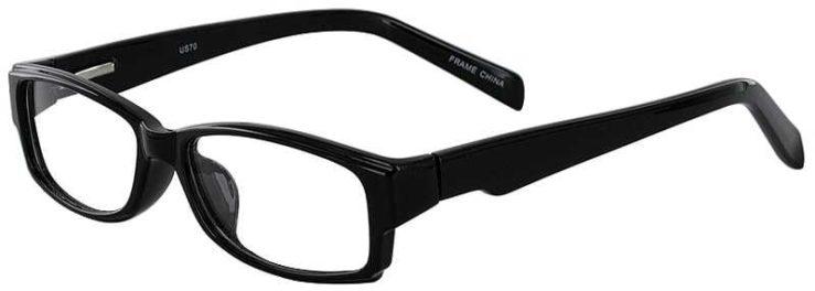 Prescription Glasses Model US70-BLACK-45