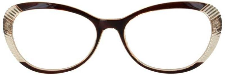 Prescription Glasses Model US72-BROWN-FRONT