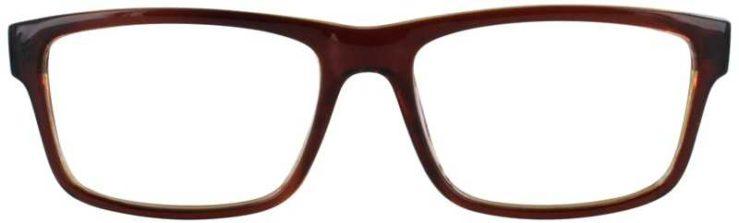 Prescription Glasses Model US73-BROWN-FRONT