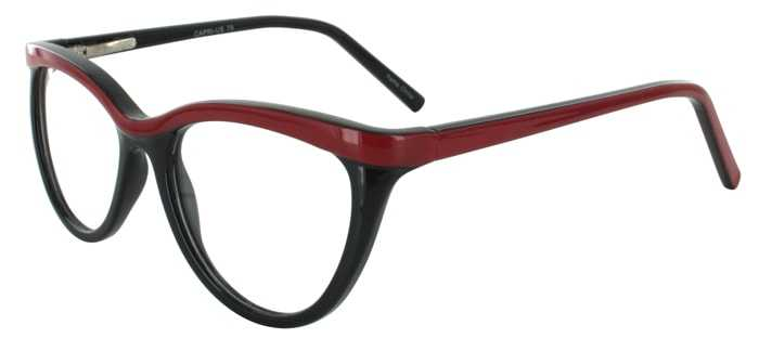 Prescription Glasses Model US79-BLACKRED-45