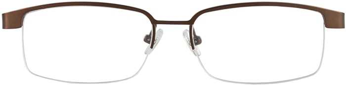 Prescription Glasses Model VP111-BROWN-FRONT