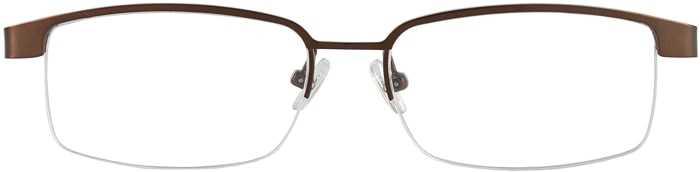 Prescription Glasses Model VP111-BROWN-FRONT