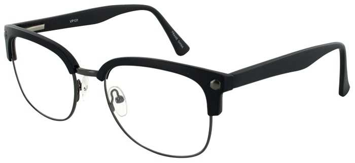 Prescription Glasses Model VP131-GUNMETAL-BLACK-45