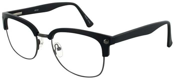Prescription Glasses Model VP131-GUNMETAL-BLACK-45