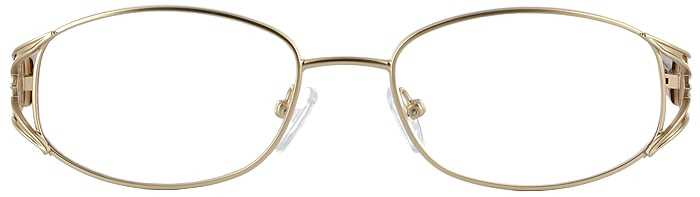 Prescription Glasses Model VP204-GOLD-FRONT