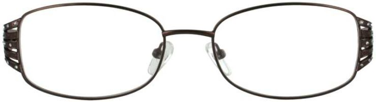 Prescription Glasses Model VP209-BROWN-FRONT