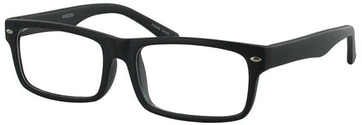 Prescription Glasses Model WISDOM-BLACK-45