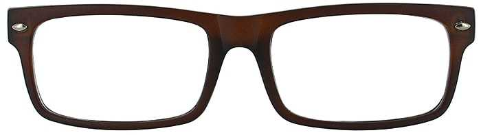 Prescription Glasses Model WISDOM-BROWN-FRONT