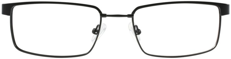 Prescription Glasses Model FX106-BLACK-FRONT