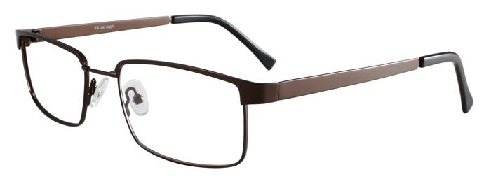 Prescription Glasses Model FX106-BROWN-45