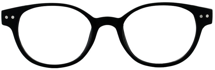 Prescription Glasses Model PUPIL-BLACK-FRONT