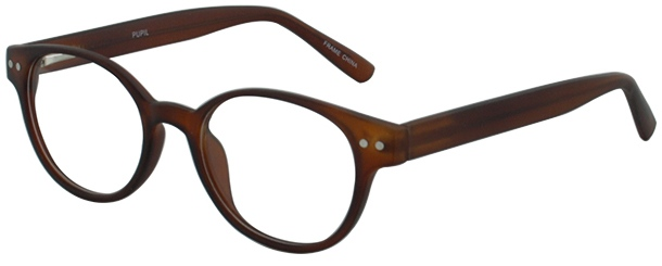 Prescription Glasses Model PUPIL-BROWN-45