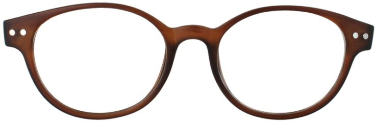 Prescription Glasses Model PUPIL-BROWN-FRONT