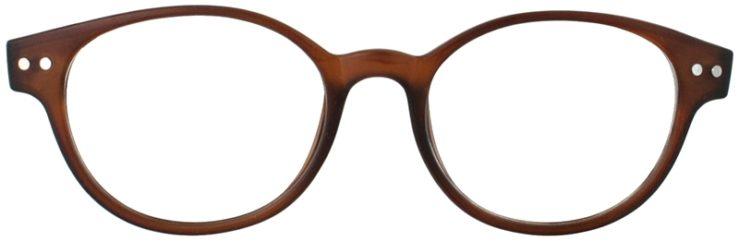 Prescription Glasses Model PUPIL-BROWN-FRONT
