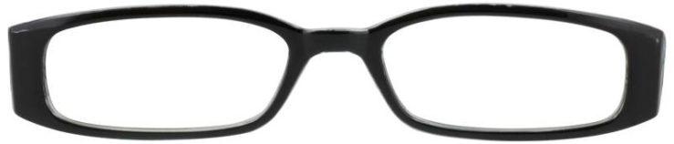 Prescription Glasses Model SOFIA-BLACK-FRONT