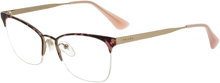 Prada Prescription Glasses Model VPR65Q-ROJ-101-45
