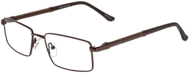 Prescription Glasses Model DC150-Brown-45