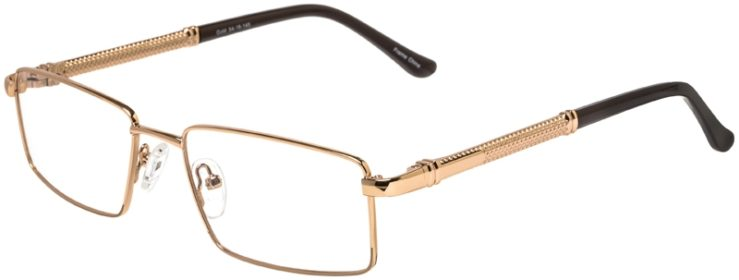 Prescription Glasses Model DC150-Gold-45