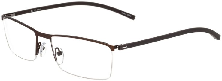 Prescription Glasses Model DC151-Brown-45