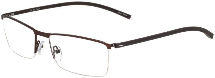 Prescription Glasses Model DC151-Brown-45