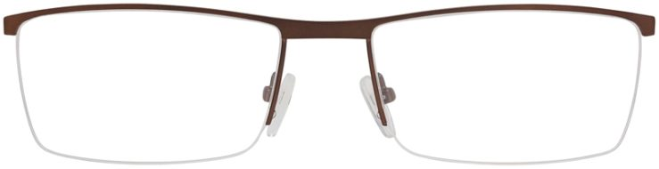 Prescription Glasses Model DC151-Brown-FRONT
