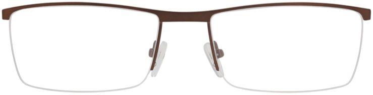 Prescription Glasses Model DC151-Brown-FRONT