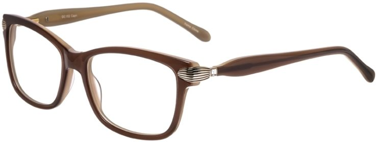 Prescription Glasses Model DC152-Brown-45